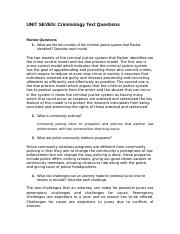 Unit 07 - Text Questions Criminology.doc