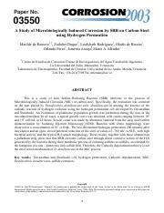 A Study of Microbiologically Induced Corrosion by SRB on Carbon Steel using Hydrogen Permeation