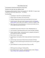 History Midterm Study Guide
