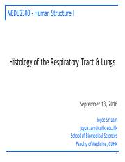 HUS-1-4 Histology of respiratory tract and lungs