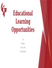 Educational Learning Opportunities