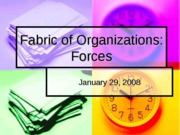 Jan 29th - Fabric of Organizations Forces  Spring 2008
