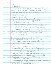 PY 372 Groups Notes
