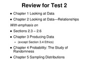 STAT 240 Review for Test 2 210305
