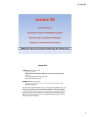 Lecture #29
