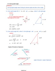 5.4 Solving right triangle