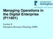 Lecture 8 Enterprise Resource Planning