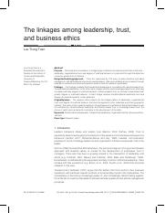 The-linkages-among-leadership-trust-and-business-ethics