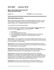 Memo Case Study Submission #2 Deliverable Requirements.pdf