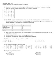 Math 43 - Spring '14 Quiz #2 Review (8.2, 8.4, 9.1)