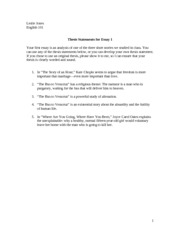 Thesis Statements for Essay 1 - Copy (2)