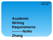 INU 0507 Student Presentation  Academic Writing Requirements