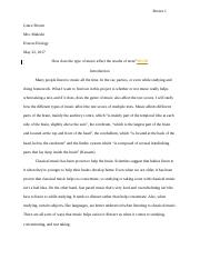 Honors Biology Independent Research Essay