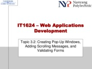 Topic 3.2 - Creating Pop-Up Windows, Adding Scrolling Messages, and Validating Forms.pdf