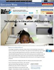 Technology in Education_ An Overview - Education Week.pdf
