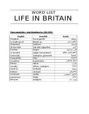 Word list life in britain arabic.docx