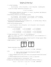 Problem Set 3 and Solution