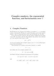 complexNumbers, functions, factoring
