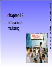 International Business Griffin Ch16 Int'l Marketing