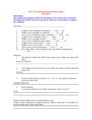 Lab 2 Study of Ratio Worksheet