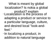 What is meant by global localization