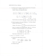 MATH 2120 Fall 2014 Test 1 Solutions