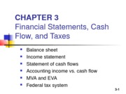 Ch 3 - Financial statements, cash flow