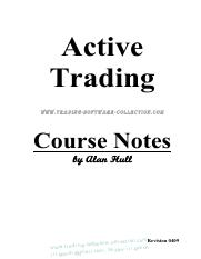 Alan Hull - Active Trading Course Notes