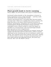 Plant growth-Artic warming14