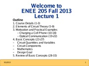 ENEE205 Fall2013 Lecture1 Gomez
