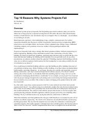 Top 10 Reasons Why Systems Projects Fail.pdf