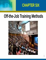 Chapter 6 Off The Job Training (1)