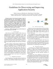 guidelines for discover web application security