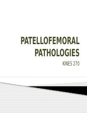 PATELLOFEMORAL PATHOLOGIES - combined with special tests.pptx