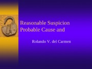 Police Reasonable Suspicion and Probable Cause(2)
