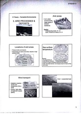 Arid Processes and Deposits Arid Zones Lecture Notes