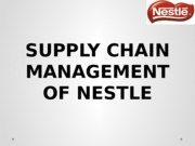 Supply Chain Management of Nestle Pakistan
