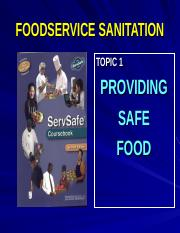 Chapter 1- Providing Safe Food