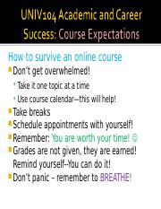 UNIV1041704B CourseExpectations.ppt
