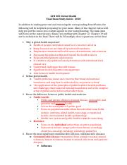 GCH 205.Final Exam Study Guide.Global Health.2018.docx