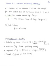 Lecture9FunctionsofSeveralVariables
