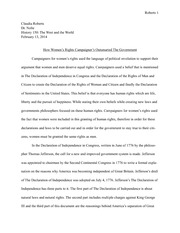 Women's Rights History Paper