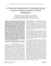 A Trust-Aware Framework for Evaluating Security Controls of Service Providers in Cloud Marketplaces