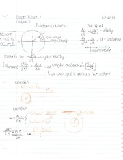 Chapter 7 and 8 Notes-Rotational Dynamics