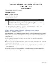 OPSMGT370 S1 2021 Assignment 2 with Instructions.pdf