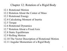 Chapter 12 - Rotation of a Rigid Body