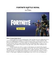 What is Fortnite Battle Royal.docx