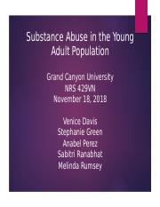 Substance Abuse in the Young Adult Population.pptx