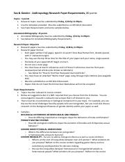 Sex and Gender_Research Paper Requirements