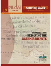 Proposals to resolve Kashmir issue